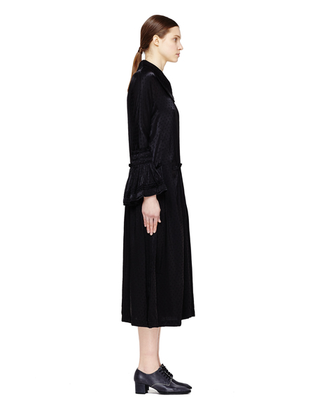 Comme des Garcons Ruffle Cuffs Dress - Black