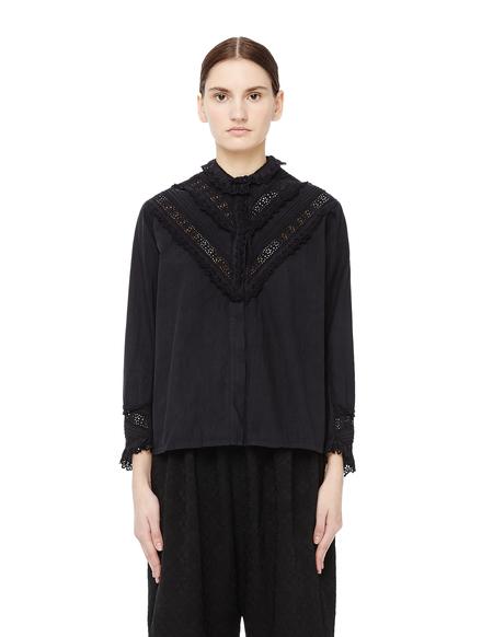 Blackyoto Cotton Button-up Shirt - BLACK