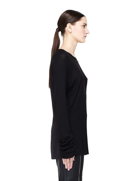 Haider Ackermann Ribbed Long Sleeve T-shirt - Black