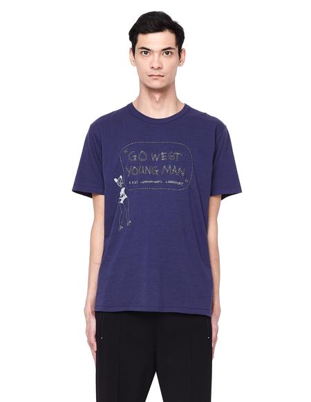 Visvim Go West Embroidery Cotton T-shirt - Purple