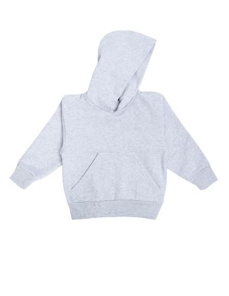 Kids Balenciaga Logo Cotton Hoodie - GRAY