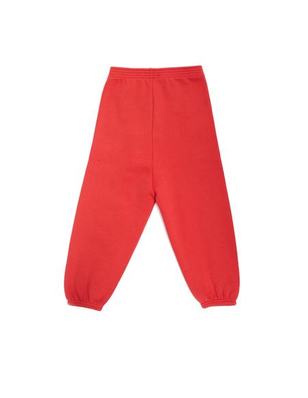 Kids Balenciaga Cotton Track Pants - RED