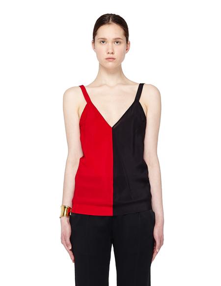 Haider Ackermann Two-tone Silk Camisole - Red/Black