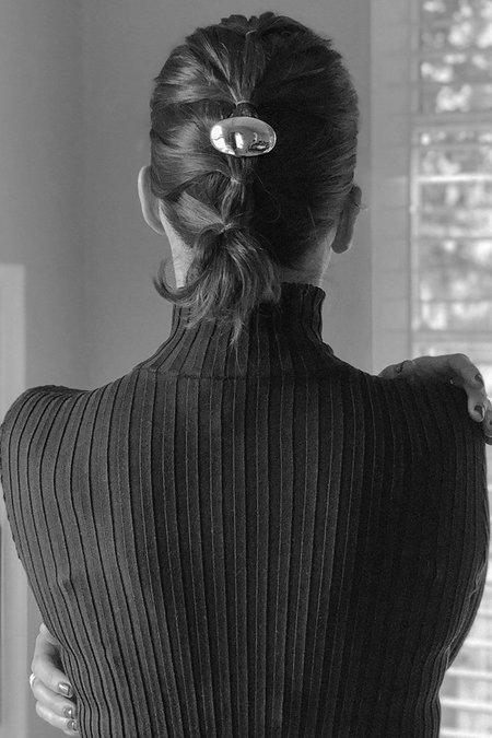 Gabriela Artigas & Company Balloon Hair Barrette - White Gold