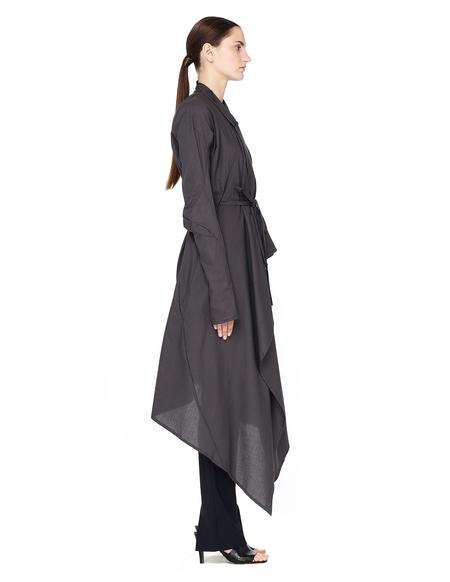 Leon Emanuel Blanck Cotton Asymmetric Coat - Grey