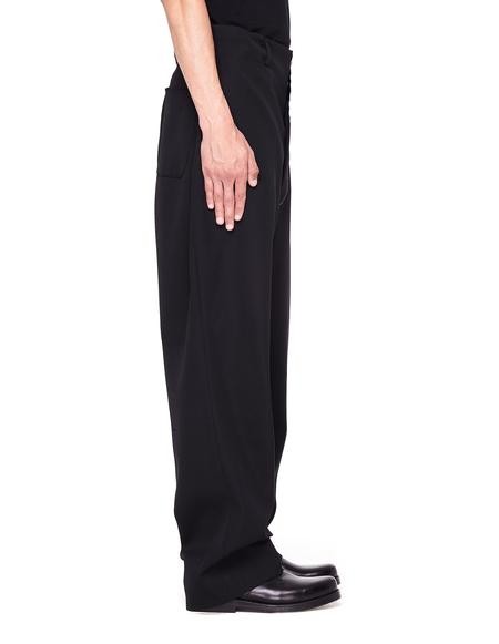 Maison Margiela White Stitching Pants - Black