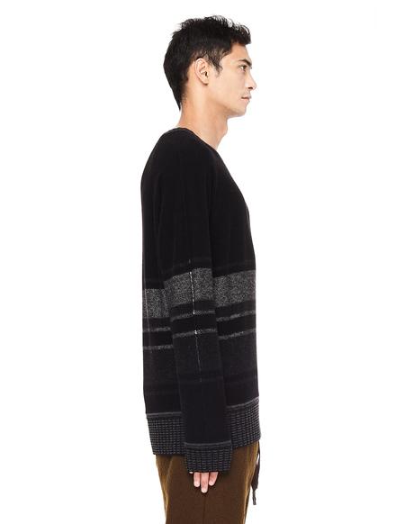 Ziggy Chen Striped Cashmere Sweater - Black