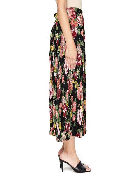 Junya Watanabe Pleated Midi Skirt - Flower Print