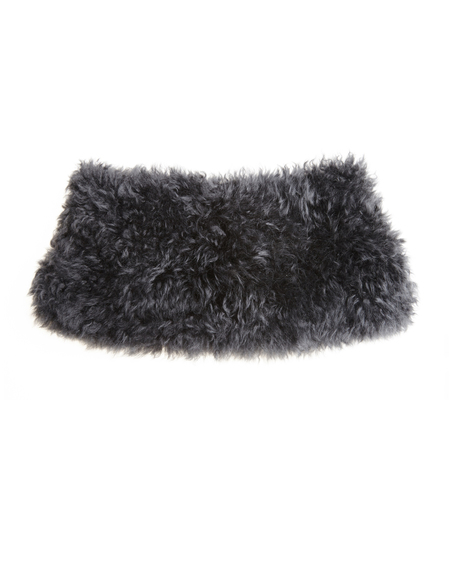 32 Paradis Lama fur collar - gray