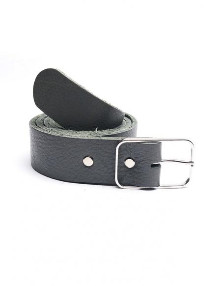 Amaury Leather belt - GRAY
