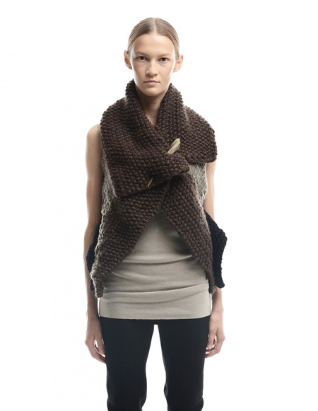 HUN Rick Owens Wool Vest - Brown