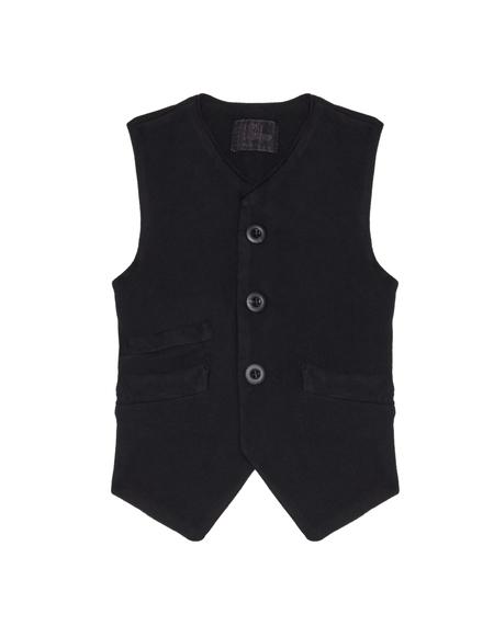 Kids Lost&Found Cotton Vest - Black