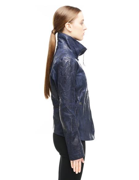 Isaac Sellam Leather Jacket - Navy Blue