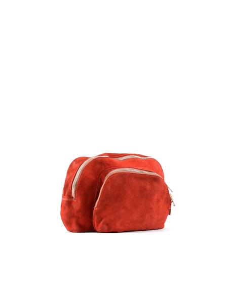 Guidi Suede Clutch - Red