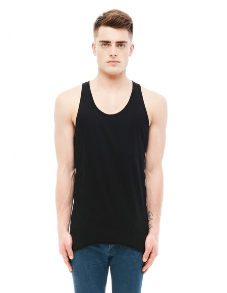 If Six Was Nine Cotton Tank Top - Black
