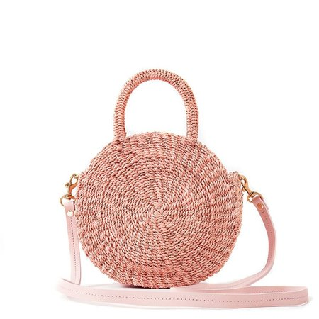 Alice Small Woven Handbag - Blush