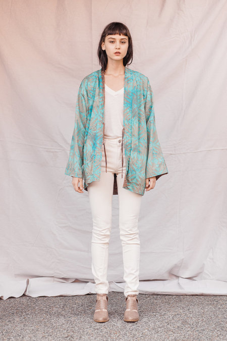 Kate Towers two way kimono coat - Soft Turquoise