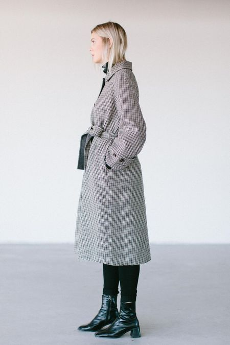 Achro Mijeong Park Handmade Wool Coat - Plaid