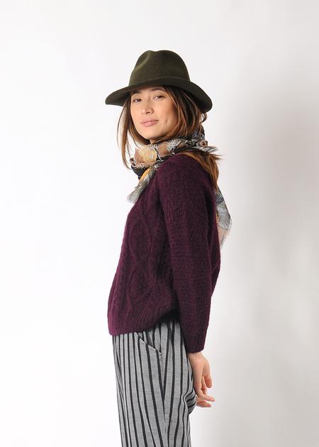 Christina Lehr Birch Sweater - Wine