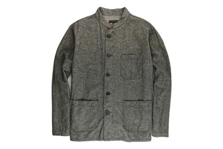 Engineered Garments Dayton Shirt - Grey Brushed Herringbone