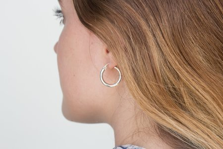 ARO X-Small 24K GOLD-PLATED & STERLING SILVER Hoop Earrings