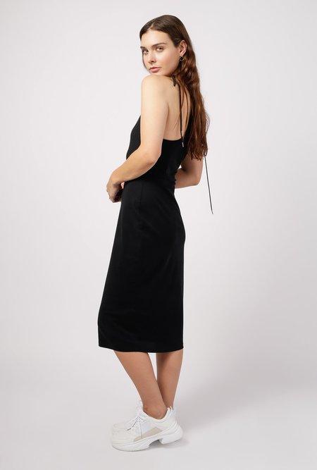 T By Alexander Wang High Twist Midi Dress