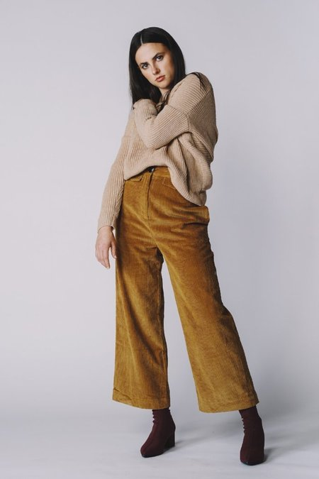 Pipe And Row Staples Twisted Infinity Sweater - Blush