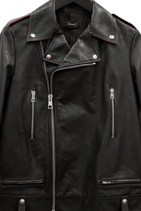 Joseph Ryder Biker Leather Jacket - Black