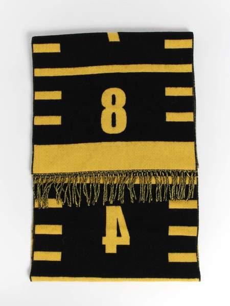 Henrik Vibskov 8 cm Scarf - Black/Yellow