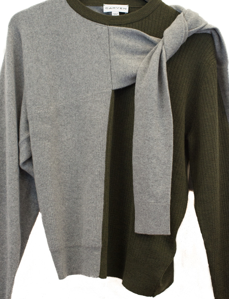 Carven Ecorce Sweater - Grey/Green