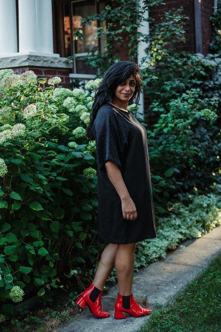 Eve Gravel Raven Dress - Black