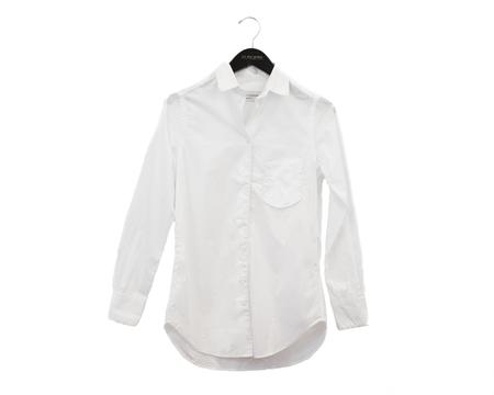 Officine Generale Gab Piping Cotton Poplin - White