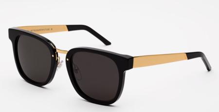 Unisex RetroSuperFuture Giorno Francis Sunglasses - Black/Gold