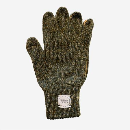 Upstate Stock Ragg Wool Glove - Olive Melange/Natural Deerskin