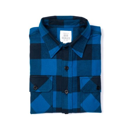 Product of Bob Scales Flannel Work Shirt - Blue/Navy