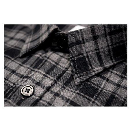 Product of Bob Scales Plaid Work Shirt - Grey/Black