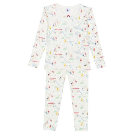 KIDS Petit Bateau Child Pyjamas - White With Paris Print