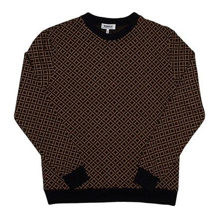 Unisex Skim Milk Whole Diamonds & Gold Sweater - Black/Gold