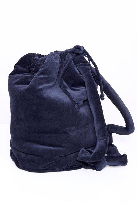 Baserange Velour Houston Bag - Midnight Blue