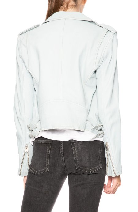 IRO Ashville Leather Jacket - Bleached Blue