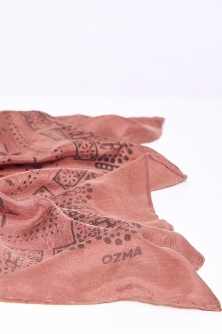 Modern Weaving Ozma 1930's Silk Bandana - Adobe
