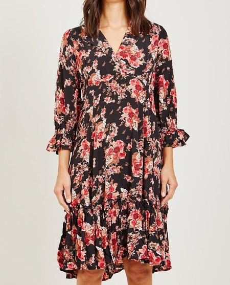 byTiMo ROSE PRINTED DAY DRESS - BLACK FLORAL