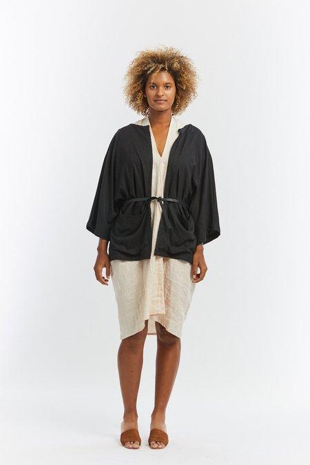 Miranda Bennett Silk Noil Albers Jacket - Black