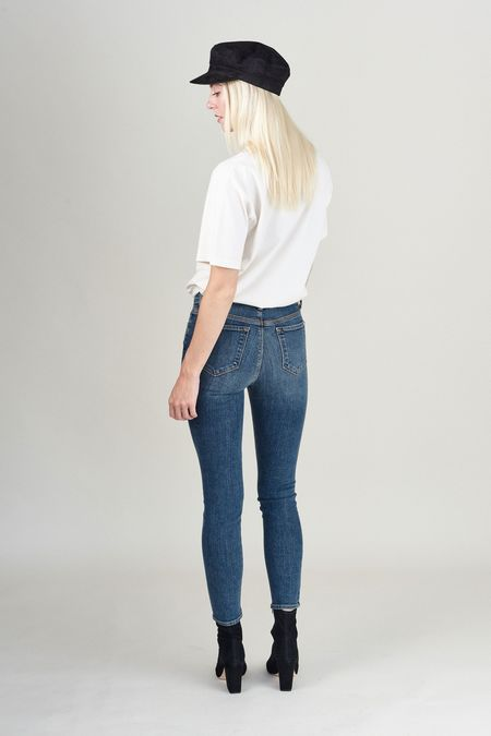 Baldwin Karlie High Rise Cropped Skinny - Medium Blue Wash