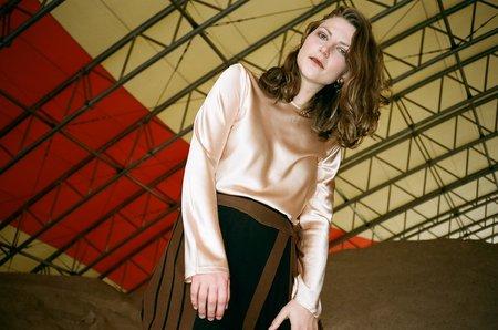 Baserange Casey Silk Bodysuit - Nude