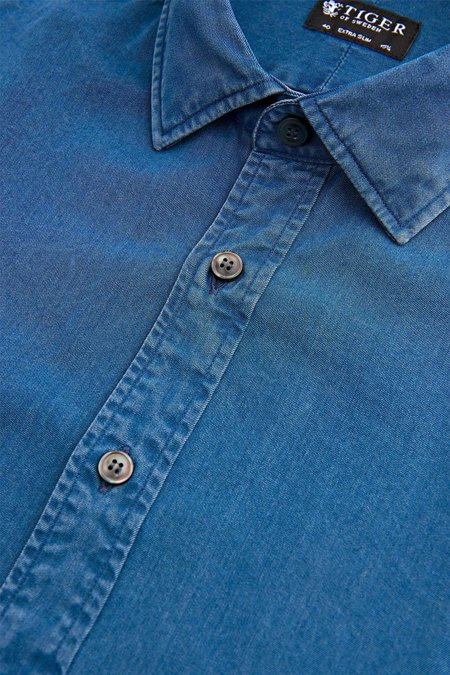 Tiger of Sweden Fridolf Cotton Shirt - Blue
