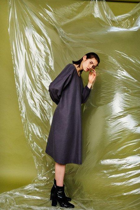 Devlyn Van Loon Flared Dress - Charcoal