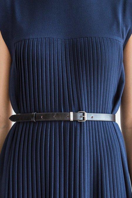 A Détacher Leather Simple Belt - black