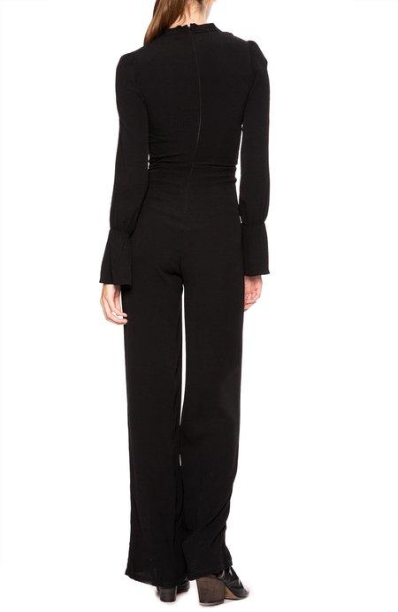 Flynn Skye Skye Tie-Neck Jumpsuit - Solid Black