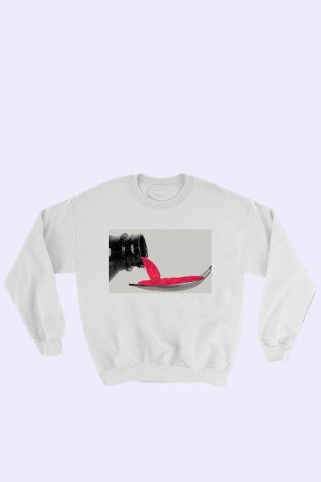 Unisex HUNK Promethazine Sweatshirt - White